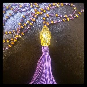 Jewelry - Tassel Necklace purple and gold