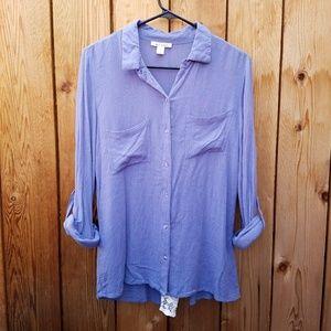 Francesca's Collections Tops - Francesca's Miami Light Purple Lace Back Top