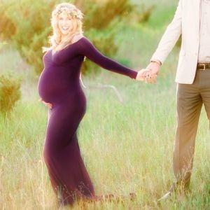Purple Maternity Dress- Maternity Photos