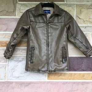 Kids leather look coat