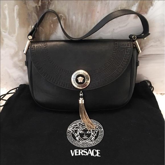 8a647006e956 Gianni Versace Vanitas Tassel Black Leather Bag. M 5936c925f09282d1cf006459