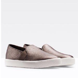 Vince Blair Bronze Metallic Sneakers