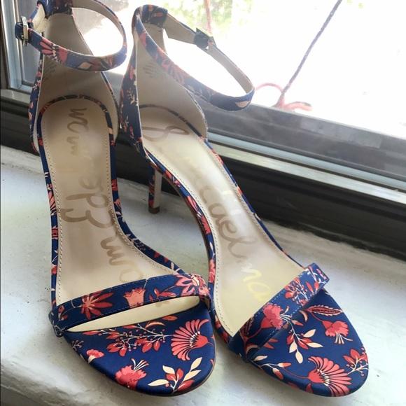 38f4ac1fe25fca Sam Edelman Patti Floral Ankle Strap Dress Sandal