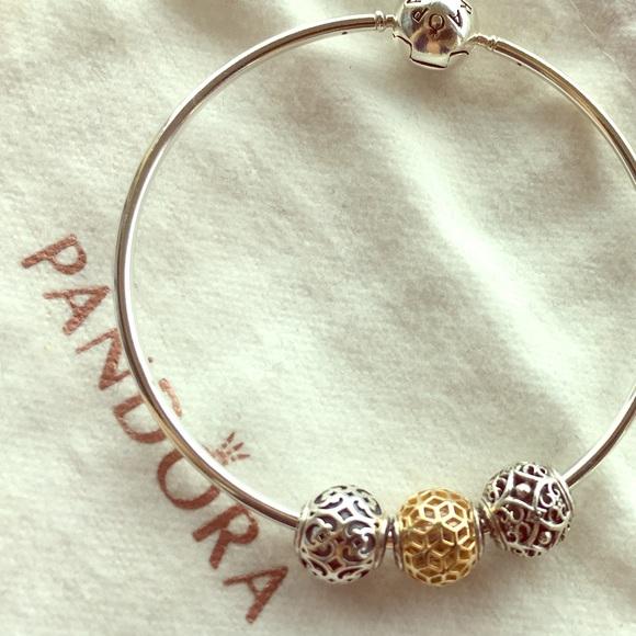 7f5e27e38 Pandora Essence Bracelet with 14k gold charm. M_5936d368c28456be43035ed0