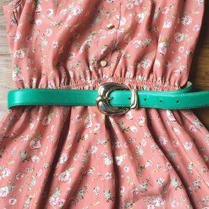 Vintage Accessories - Vintage teal turquoise belt🌈