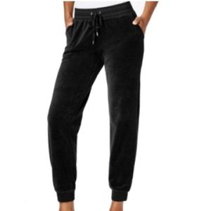 Style & Co Pants - Black velour joggers