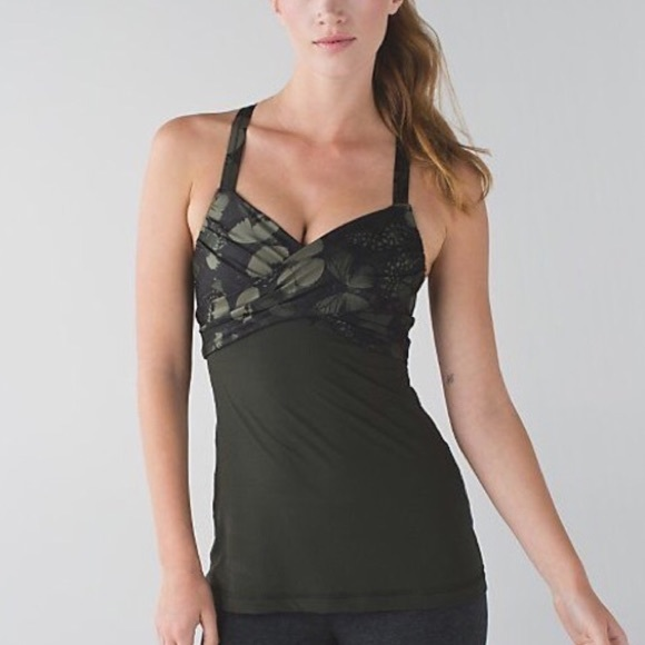 38 off lululemon athletica tops lululemon wrap me up for Shirts with built in sports bra