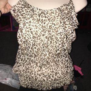 2 Cute Tops - cheetah tank top