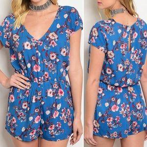 Pants - Arrived!!! Blue floral romper