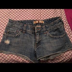 Roxy denim cut off shorts size 3