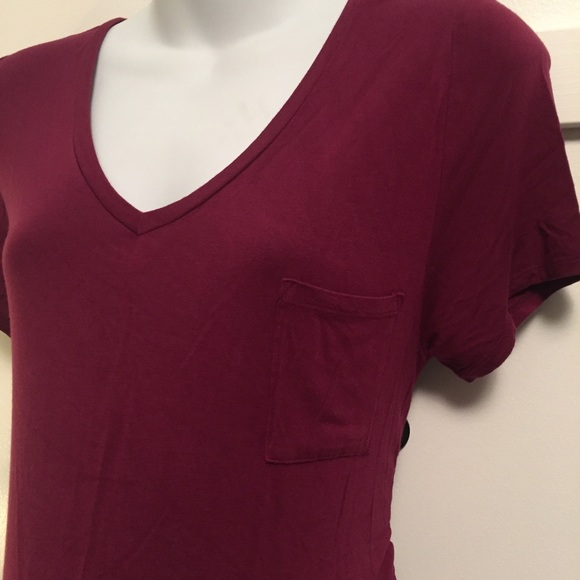 Motherhood Maternity Tops - Burgundy Motherhood maternity tunic top large