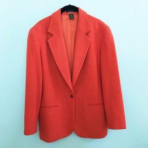 J. Crew Orange Wool Blazer