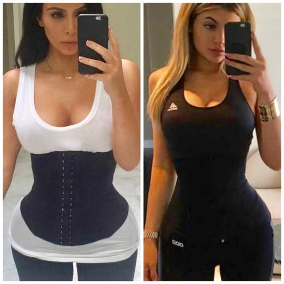 228be3e6af255 NWT SEMI VEST BLACK LATEX WAIST TRAINER XL