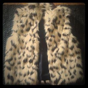 cheetah print  faux fur vest