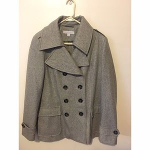 New York & Company Jackets & Blazers - Heather gray peacoat. Only worn a few times.
