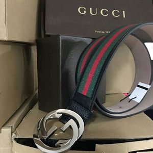 Gucci Other - New Gucci Black/Green/Red Classic Belt