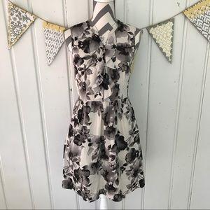 LOFT Dresses & Skirts - Floral Button Up Ruffle Front LOFT Dress