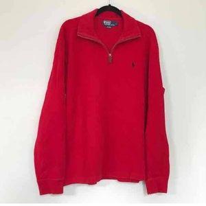 Ralph Lauren Red Quarter Zip