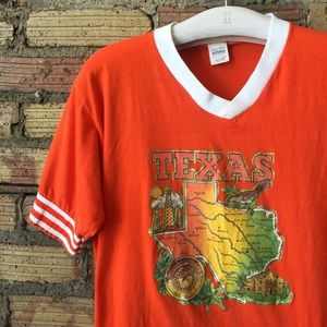 Vintage 70's 80's Ringer TEXAS Graphic tee