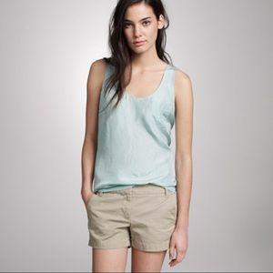J. Crew Turquoise 100% Silk Layering Top Size 10