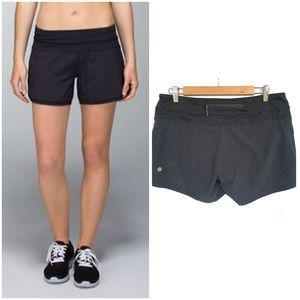 lululemon athletica Pants - Lululemon charcoal gray groovy short 4 way stretch