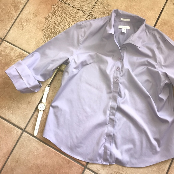 Chico 39 s chicos no iron button down 3 4 sleeve blouse for Chicos no iron shirts