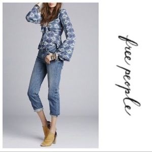 Free People Cropped Harbor Jeans NWT