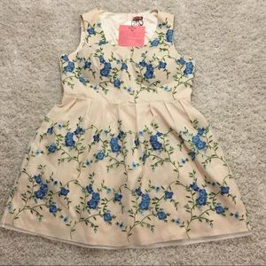 Chi Chi London Dresses & Skirts - Cream Floral Embroidery Dress with Button Back