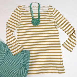 J CREW  xsmall Long-sleeve striped boatneck top