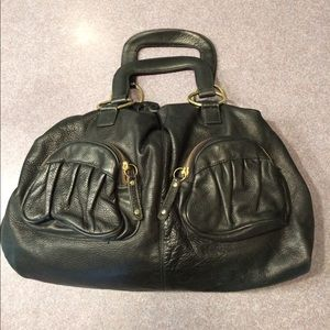 Bulga Handbags - Bulga Black Leather Handbag
