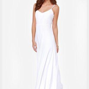 Lulu's Dresses & Skirts - BB Dakota White Loulla Maxi Dress