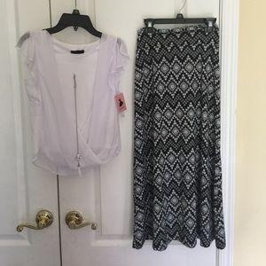 Amy's Closet Other - Amy's closet girl  2pcs necklace top & skirt M