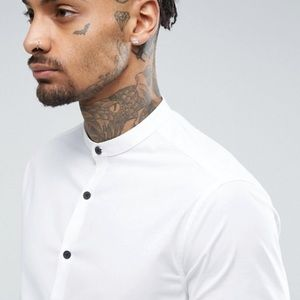 ASOS Other - ASOS Slim Shirt With Stretch In White