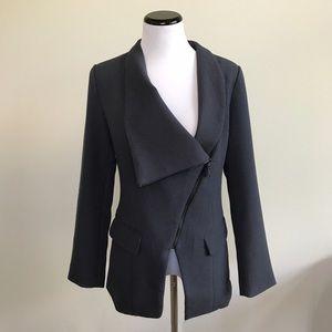 Navy blazer zip up jacket