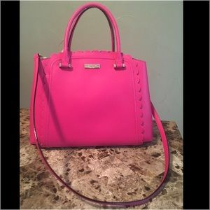 Kate Spade Linzi Leather Tote Satchel Purse Pink