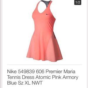 Coral Nike tennis dress