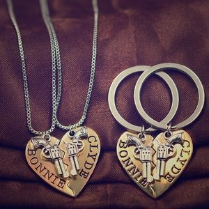 Jewelry - Bundle Bonnie and Clyde key chain and necklace set