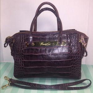 KENNETH COLE Leather Croc Bag