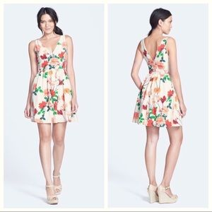 BB Dakota Basha Floral Print Fit & Flare Dress