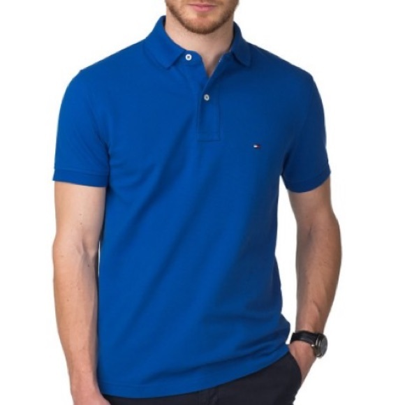 4a88f286dbe5 Tommy Hilfiger Shirts | Blue Custom Fit Ivy Polo Nwot | Poshmark
