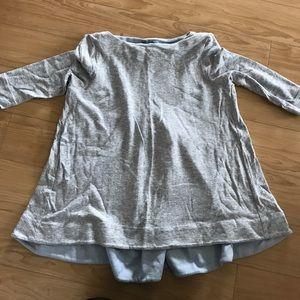 COS Heather Gray 3/4 Sleeve Shirt