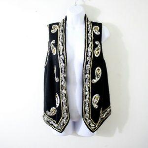 Vintage Jackets & Blazers - Limited Black Vintage Vest