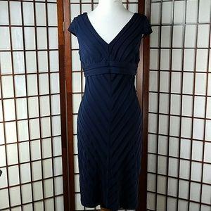 Adrianna Papell Dresses & Skirts - Oxford Blue Cap sleeve Pleated dress