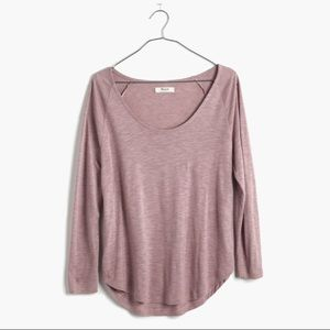 Madewell Anthem Scoop Tee blush pink