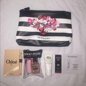 Other - Sephora makeup bag with samples