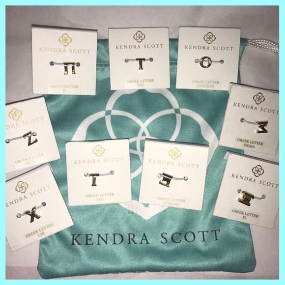 Kendra Scott Greek Letter Necklace