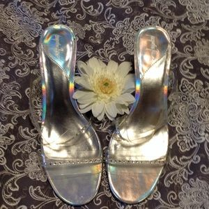 Jacqueline Ferrar Shoes - Clear strap sandals and heels, size 8