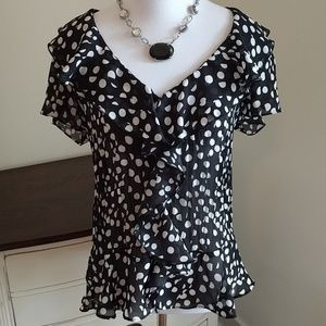 Allison Taylor Tops - Polka dot blouse