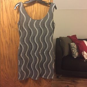 Gray sequined dress!