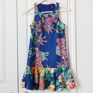 Dresses & Skirts - MDS Collections twill ruffle hem floralprint dress